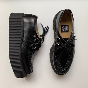 TUK Mondo Creepers Black Leather